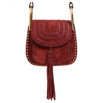 Chloé Hudson Burgundy Suede Handbag