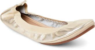 Yosi Samra Gold Samara Metallic Ballet Flats