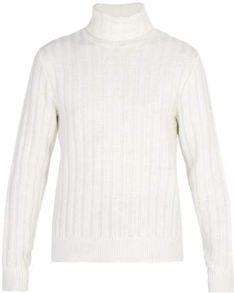 Ami Ribbed-knit roll-neck sweater