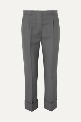 Prada Cropped Mohair And Wool-blend Straight-leg Pants