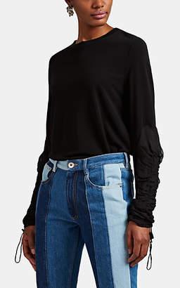 Maison Margiela Women's Fluid Jersey & Chiffon T-Shirt - Black