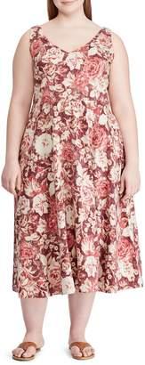 Chaps Plus Floral Cotton Dress