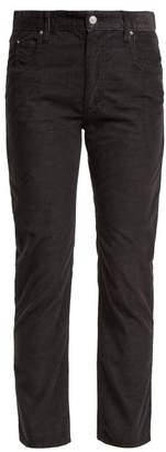 Etoile Isabel Marant Aliff Cotton Blend Girlfriend Trousers - Womens - Black