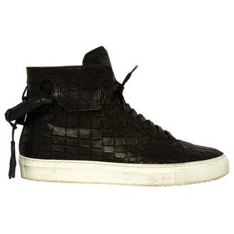 Buscemi Leather High Top Trainers.