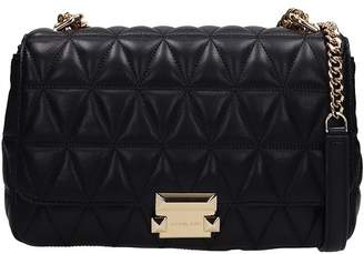 Michael Kors Sloan Bag In Black Quilted Leather