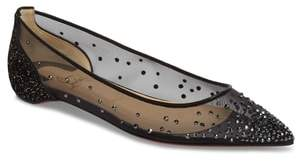 Christian Louboutin Follies Strass Crystal Embellished Flat