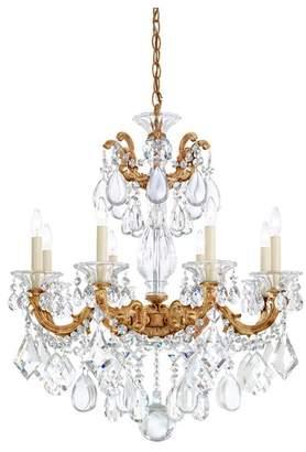 Schonbek La Scala 8-Light Chandelier in Heirloom Gold With Clear Heritage Crystal