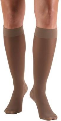 BEIGE Truform Women's Stockings, Knee High, Sheer: 20-30 mmHg, Beige, Medium
