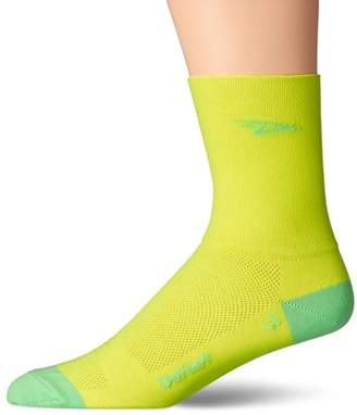 """DeFeet Aireator Tall Neon Yellow XL, 5"""" Cuff By"""