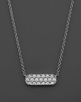 Bloomingdale's Small Diamond Bar Necklace in 14K White Gold, .12 ct. t.w.