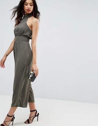 Asos Jumpsuit With High Neck And Buckle