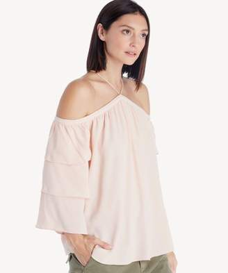 Sole Society Tiered Sleeve Cold Shoulder Blouse