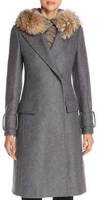 Belstaff Firdale Fur Trim Long Coat