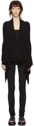 Rick Owens Black Medium Wrap Cardigan