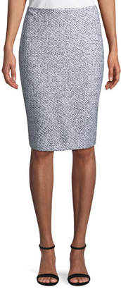 St. John Olivia Boucle Knit Pencil Skirt