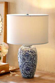 Soft Surroundings Blue Eden Table Lamp