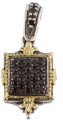 Konstantino Sterling Silver & 18K Yellow Square Black Diamond Pendant - 0.33 ctw