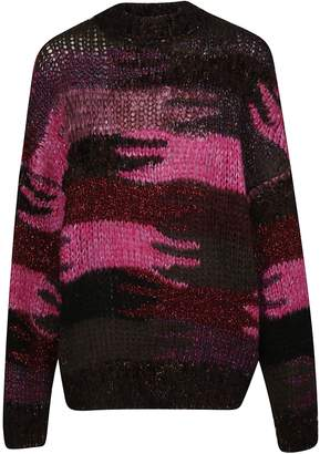 Saint Laurent Camouflage Knitted Sweater