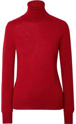 Victoria Beckham Wool Turtleneck Sweater - Red