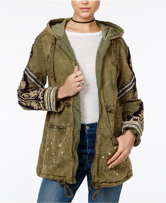 Free People Embellished Hooded Parka $298 thestylecure.com