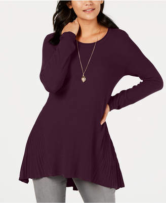Style&Co. Style & Co Ribbed High-Low Tunic Top