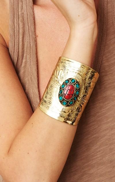 samanca jewelry Kels Gold Cuff