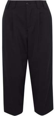 RED Valentino Cropped Woven Straight-Leg Pants