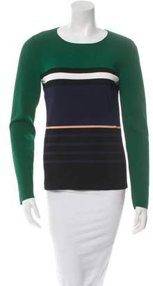 Cédric Charlier Striped Long Sleeve Top w/ Tags