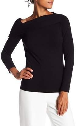 Nanette Lepore NANETTE One Shoulder Long Sleeve Rib Knit Top