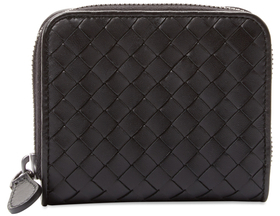 Bottega Veneta Woven Leather Mini Wallet