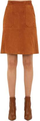 L'Autre Chose Knee Length Suede Skirt