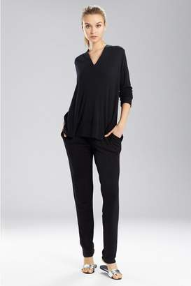 Natori N Speckled Interlock Long Sleeve Top