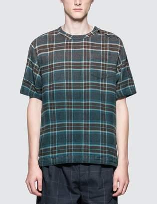 Sacai Dr. Woo Flannel Check S/S T-Shirt