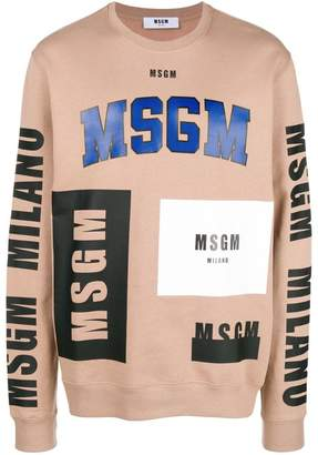 MSGM Logomania oversized sweater