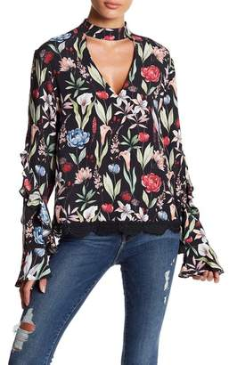 Willow & Clay Printed Ruffle Blouse