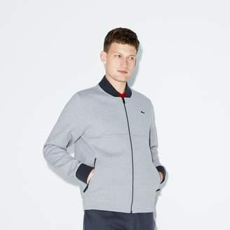 Lacoste Men's SPORT Banana Neck Zippered Fleece Tennis Sweatshirt
