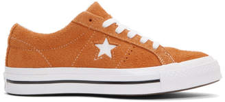 Converse Orange Suede One Star Sneakers