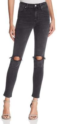 Mavi Jeans Lucy Skinny Jeans in Smoked Ripped
