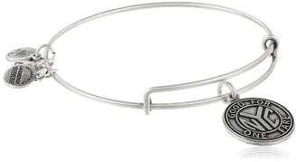 Alex and Ani Places We Love Rafaelian Silver-Tone NYC Subway Token II Expandable Wire Bangle Bracelet