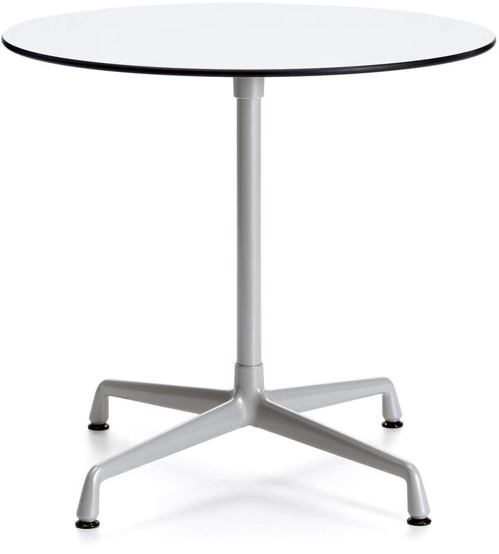 Contract Table Outdoor rund, silber / Weiß