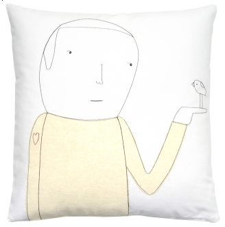 K Studio Heart On Sleeve Pillow - White