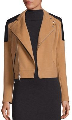 Polo Ralph Lauren Wool & Cashmere Leather-Trim Bomber Jacket $998 thestylecure.com