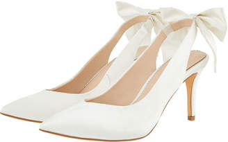 99759824fa6 Monsoon Bea Bow Pointed Sling Back Bridal Shoes