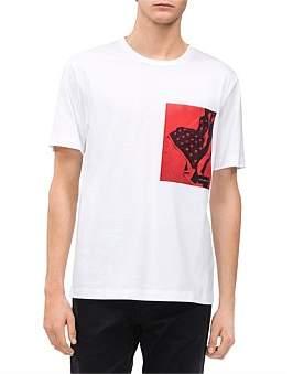 Calvin Klein Chest Flag Satin Box Reg Tee