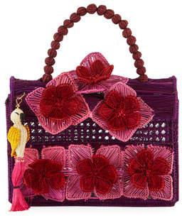Mercedes Salazar Threaded Fabric Top Handle Bag