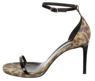 Saint Laurent Snakeskin Sandals