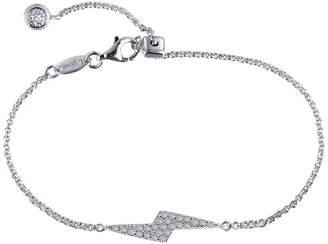 Lafonn Classic Sterling Silver Platinum Plated Lassire Simulated Diamond Bracelet (0.5 CTTW)
