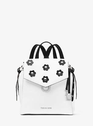 Michael Kors Bristol Small Floral Applique Leather Backpack