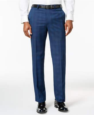 Sean John Men's Slim-Fit Navy Plaid Suit Pants $120 thestylecure.com