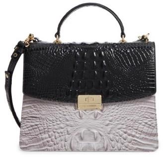 Brahmin Brera Simone Top Handle Leather Satchel - Black $345 thestylecure.com